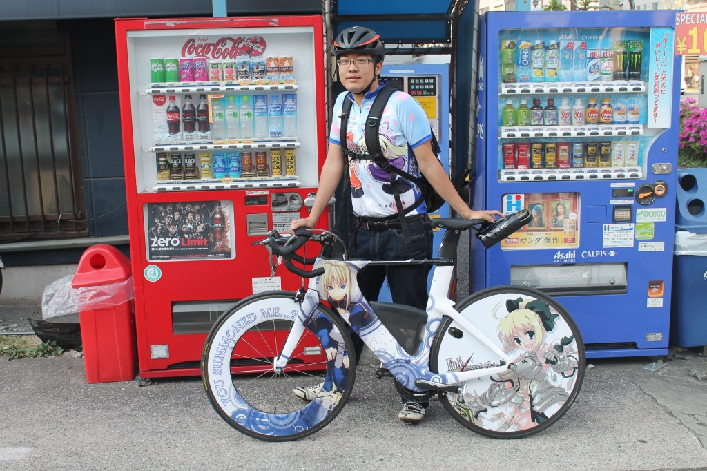 The man and his glorious Saber bicycle.